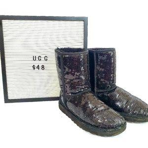Ugg Black Short Sequin Boots.  Size 7